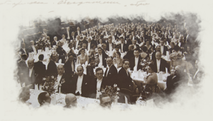 Photo of attendees at the 1936 Congress, Photo of Stanley Unwin